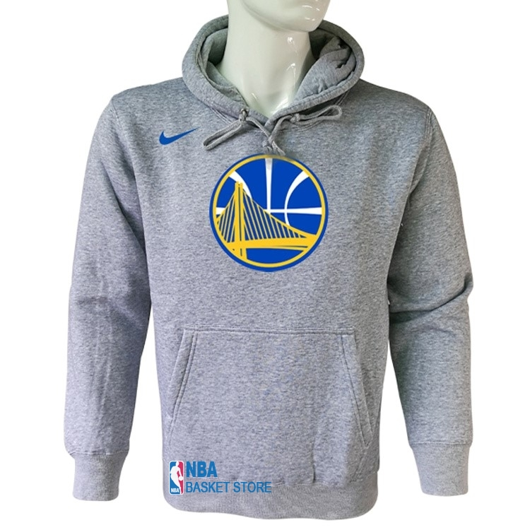 Achat Hoodies NBA Golden State Warriors Nike Gris