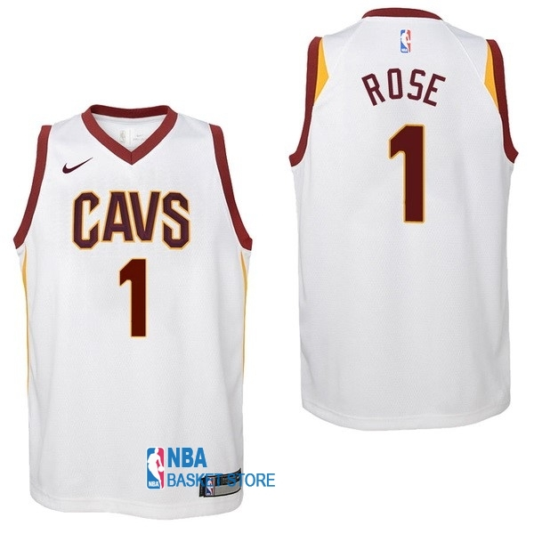1ee9bcfd77f69 Achat Maillot NBA Enfant Cleveland Cavaliers NO.1 Derrick Rose Blanc  Association