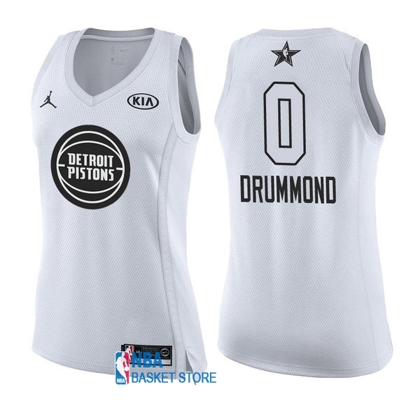 Achat Maillot NBA Femme 2018 All Star NO.0 Andre Drummond Blanc