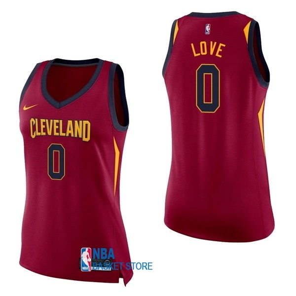 Achat Maillot NBA Femme Cleveland Cavaliers NO.0 Kevin Love Rouge Icon