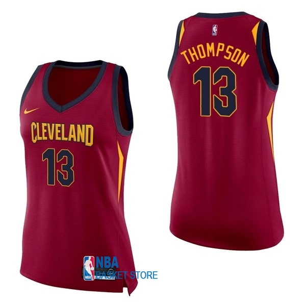 Achat Maillot NBA Femme Cleveland Cavaliers NO.13 Tristan Thompson Rouge Icon
