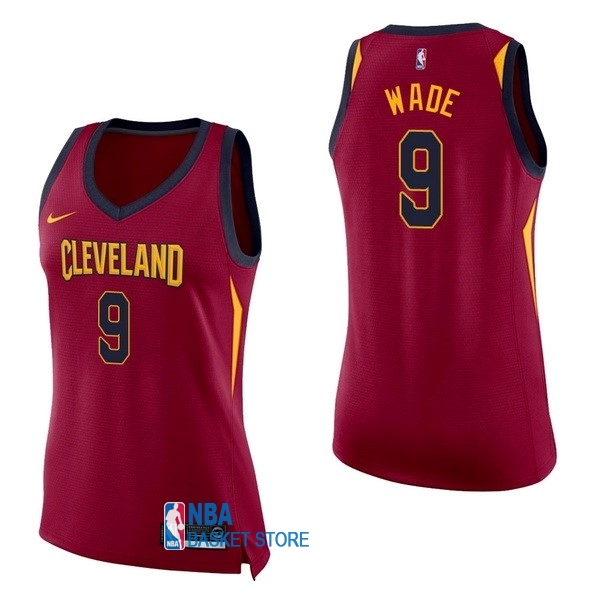 Achat Maillot NBA Femme Cleveland Cavaliers NO.9 Dwyane Wade Rouge Icon