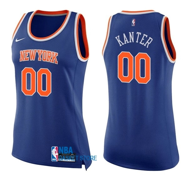 Achat Maillot NBA Femme New York Knicks NO.0 Enes Kanter Bleu Icon