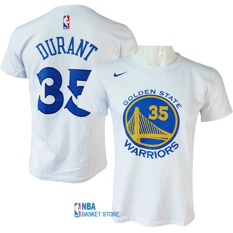 Achat Maillot NBA Nike Golden State Warriors Manche Courte NO.35 Kevin Durant Nike Blanc