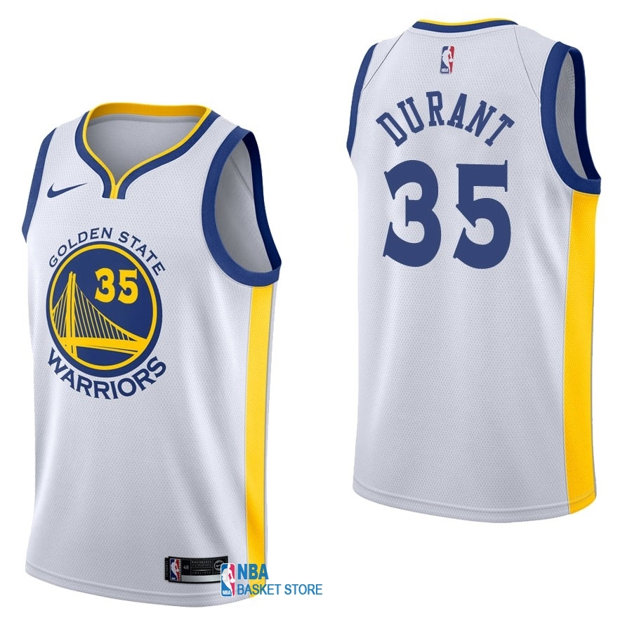 Achat Maillot NBA Nike Golden State Warriors NO.35 Kevin Durant Blanc Association