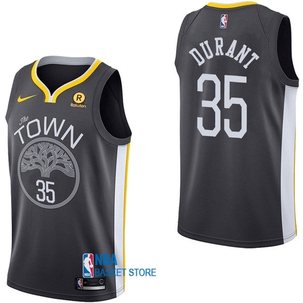 Achat Maillot NBA Nike Golden State Warriors NO.35 Kevin Durant Noir