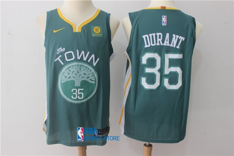 Achat Maillot NBA Nike Golden State Warriors NO.35 Kevin Durant Vert