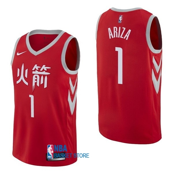 Achat Maillot NBA Nike Houston Rockets NO.1 Trevor Ariza Nike Rouge Ville