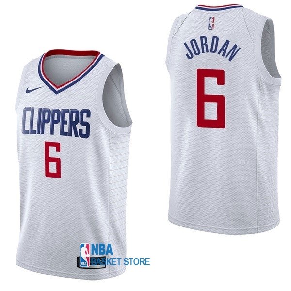 Achat Maillot NBA Nike Los Angeles Clippers NO.6 DeAndre Jordan Blanc Association