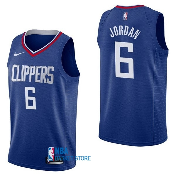 Achat Maillot NBA Nike Los Angeles Clippers NO.6 DeAndre Jordan Bleu Icon