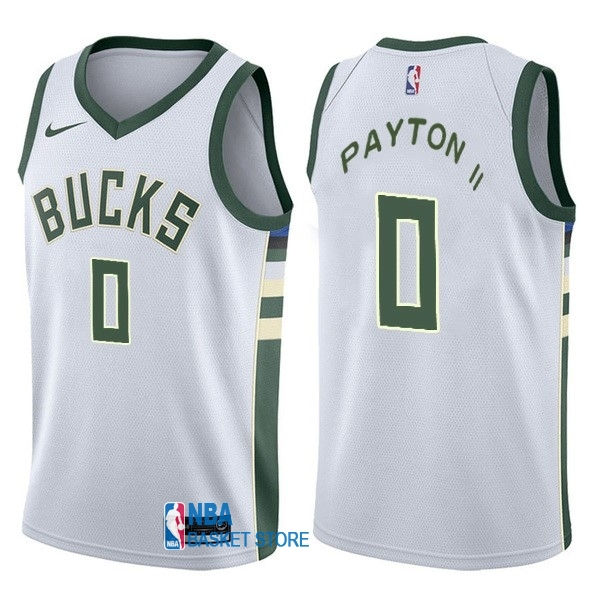 Achat Maillot NBA Nike Milwaukee Bucks NO.0 Gary Payton II Blanc Association