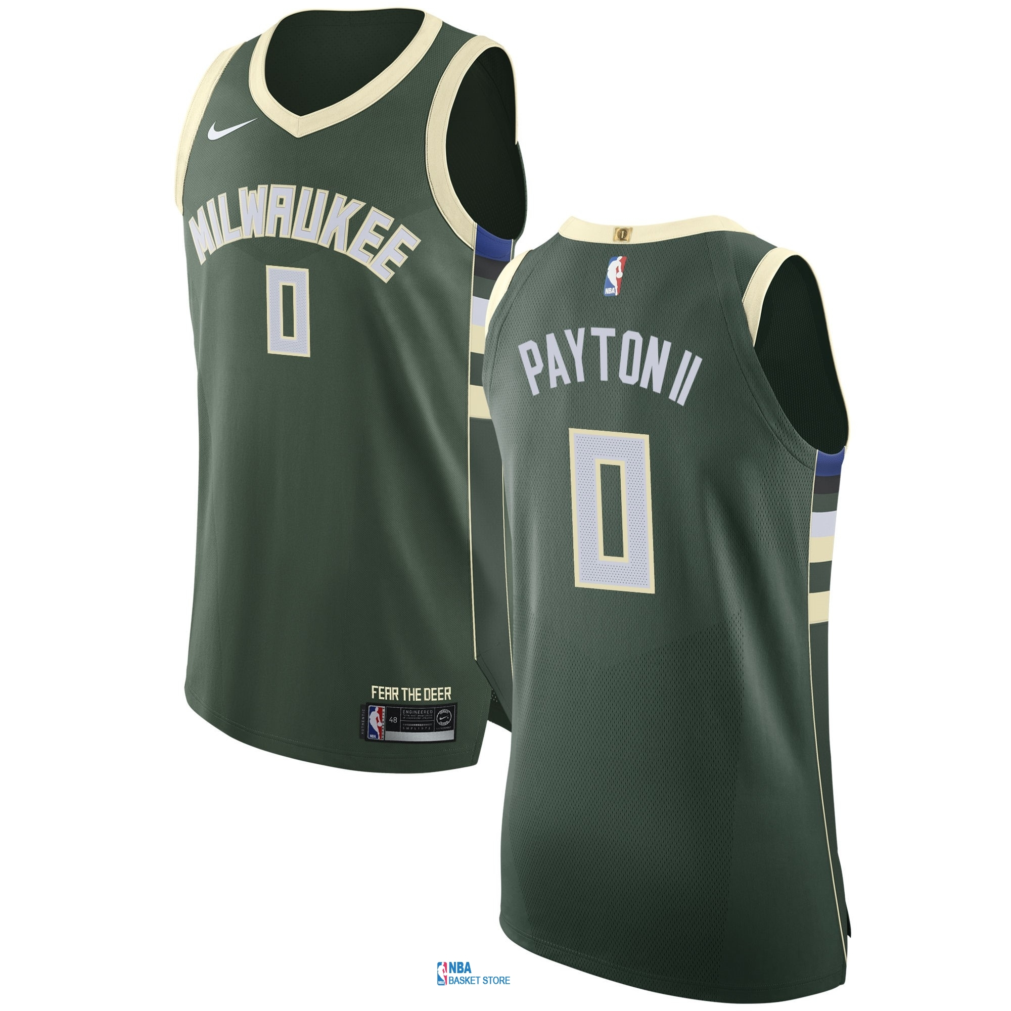 Achat Maillot NBA Nike Milwaukee Bucks NO.0 Gary Payton II Vert Icon