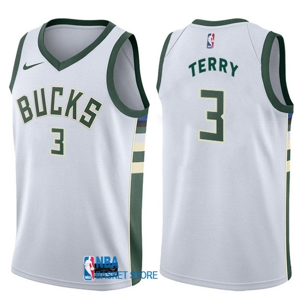Achat Maillot NBA Nike Milwaukee Bucks NO.3 Jason Terry Blanc Association