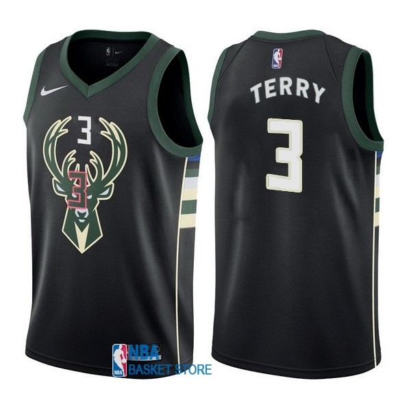 Achat Maillot NBA Nike Milwaukee Bucks NO.3 Jason Terry Noir Statement