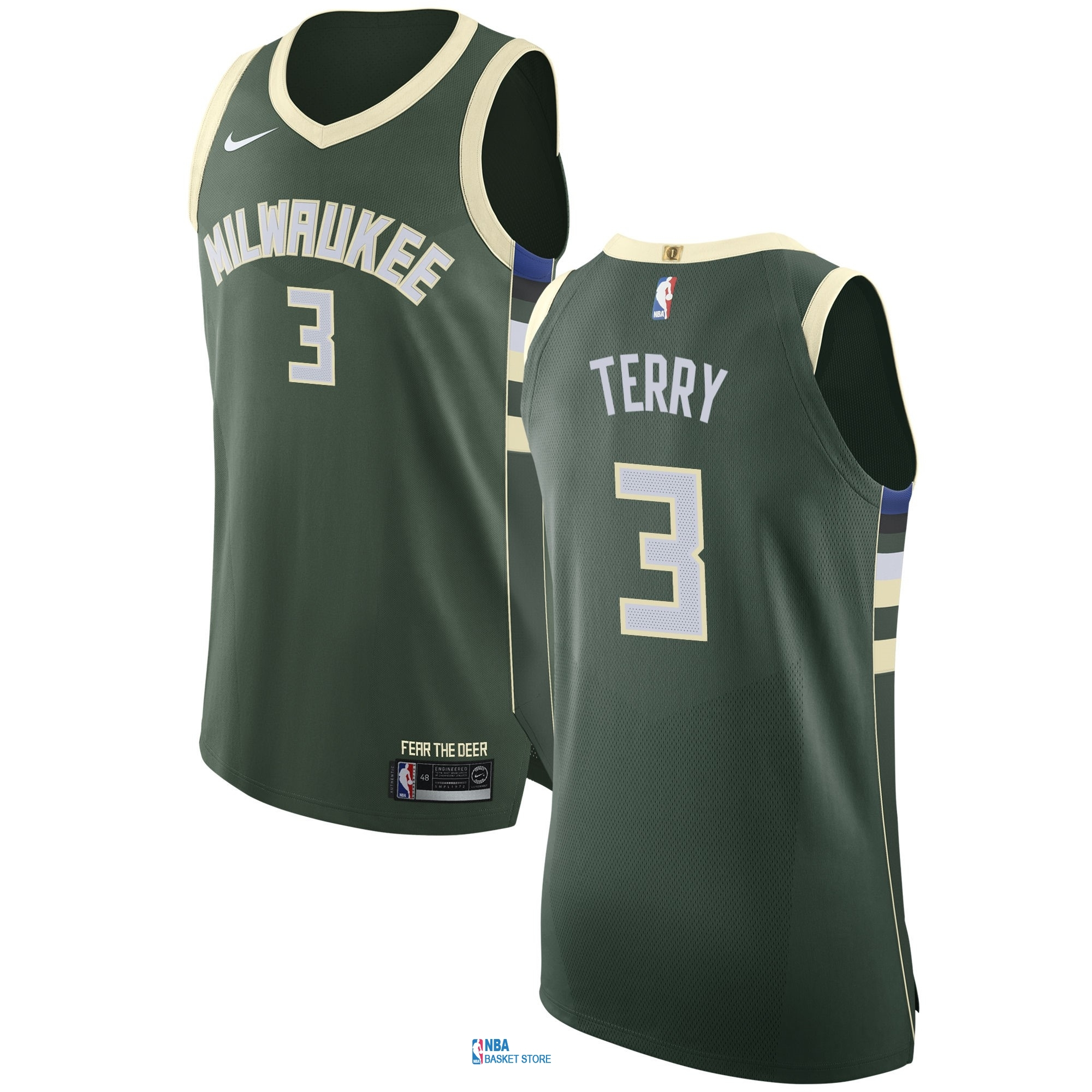 Achat Maillot NBA Nike Milwaukee Bucks NO.3 Jason Terry Vert Icon