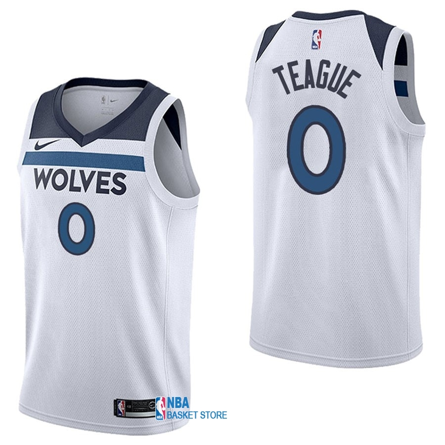 Achat Maillot NBA Nike Minnesota Timberwolves NO.0 Jeff Teague Blanc Association