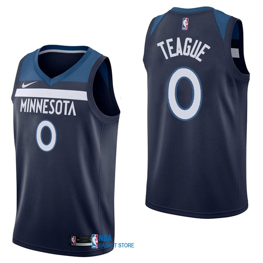 Achat Maillot NBA Nike Minnesota Timberwolves NO.0 Jeff Teague Marine Icon