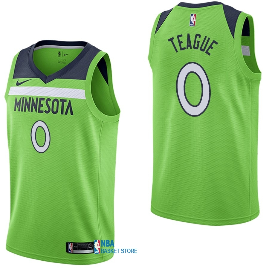 Achat Maillot NBA Nike Minnesota Timberwolves NO.0 Jeff Teague Vert Statement