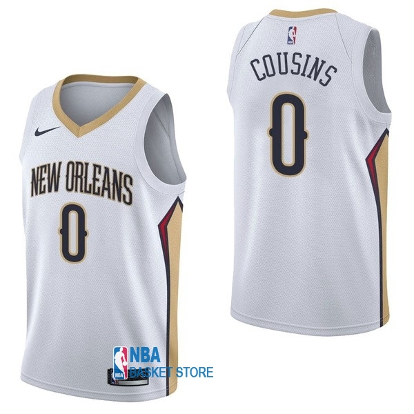 Achat Maillot NBA Nike New Orleans Pelicans NO.0 DeMarcus Cousins Blanc Association