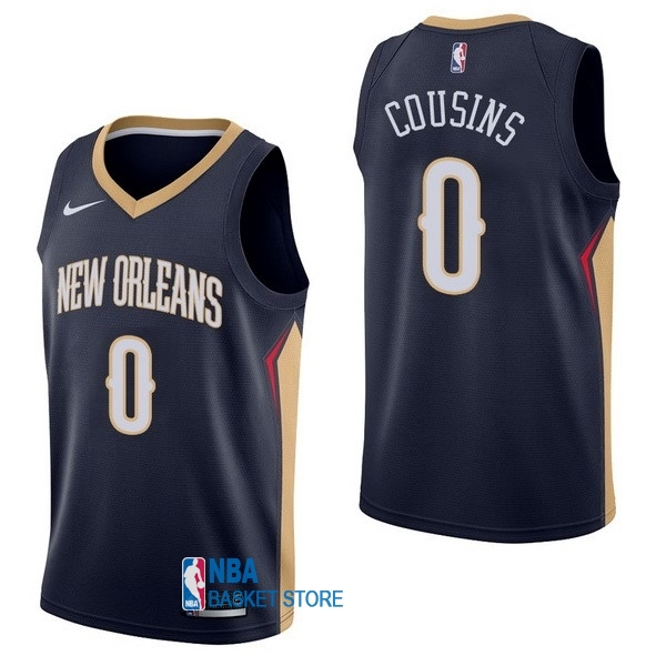 Achat Maillot NBA Nike New Orleans Pelicans NO.0 DeMarcus Cousins Marine Icon