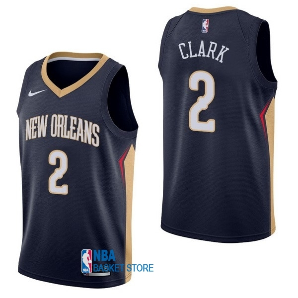 Achat Maillot NBA Nike New Orleans Pelicans NO.2 Ian Clark Marine Icon