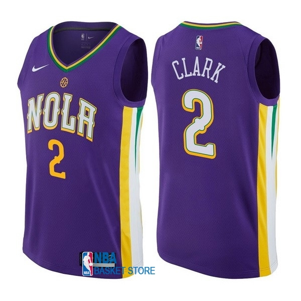 Achat Maillot NBA Nike New Orleans Pelicans NO.2 Ian Clark Nike Pourpre Ville