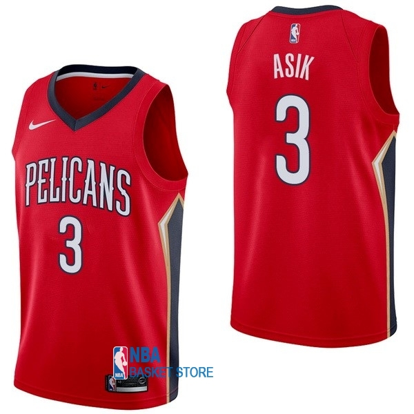 Achat Maillot NBA Nike New Orleans Pelicans NO.3 Omer Asik Rouge Statement