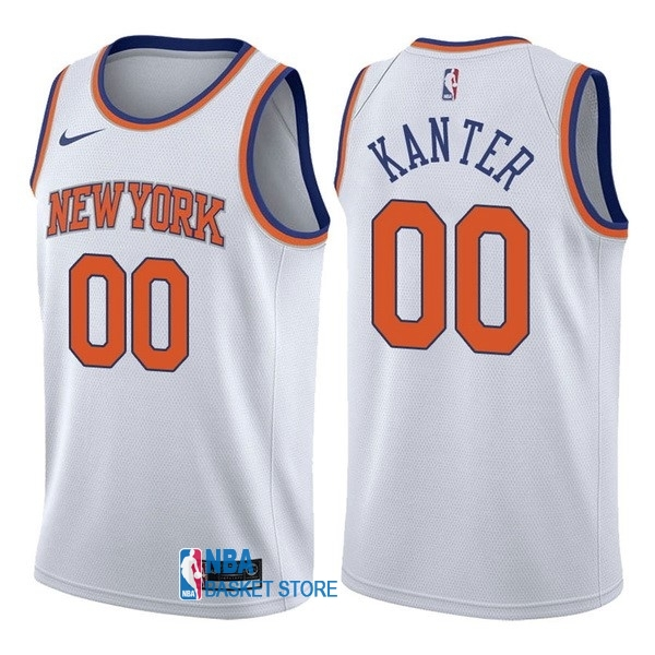 Achat Maillot NBA Nike New York Knicks NO.0 Enes Kanter Blanc Association