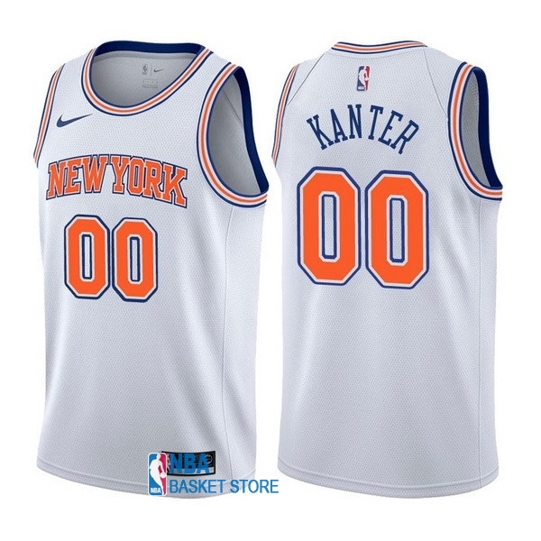 Achat Maillot NBA Nike New York Knicks NO.0 Enes Kanter Blanc Statement
