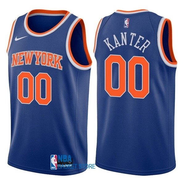Achat Maillot NBA Nike New York Knicks NO.0 Enes Kanter Bleu Icon