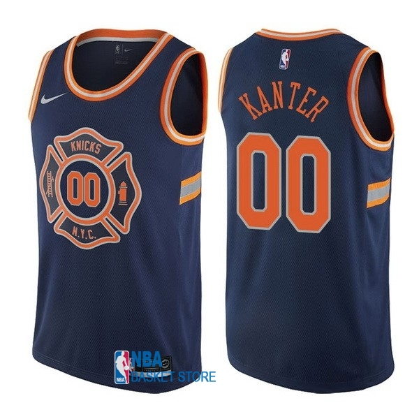 Achat Maillot NBA Nike New York Knicks NO.0 Enes Kanter Nike Bleu Ville