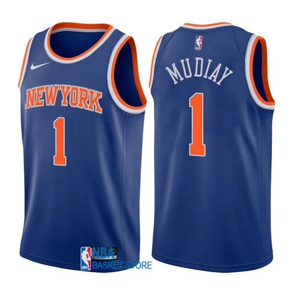 Achat Maillot NBA Nike New York Knicks NO.1 Emmanuel Mudiay Bleu Icon