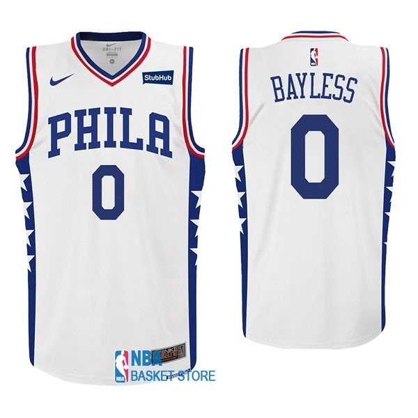 Achat Maillot NBA Nike Philadelphia Sixers NO.0 Jerryd Bayless Blanc