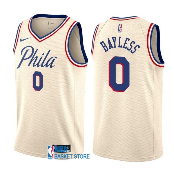 Achat Maillot NBA Nike Philadelphia Sixers NO.0 Jerryd Bayless Nike Crème Ville