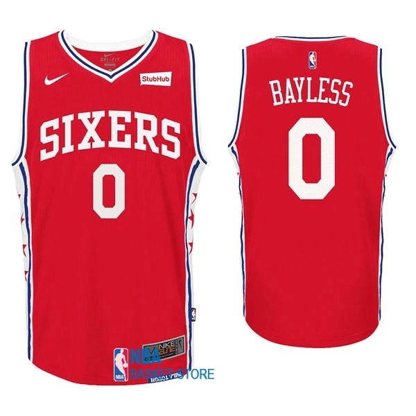 Achat Maillot NBA Nike Philadelphia Sixers NO.0 Jerryd Bayless Rouge