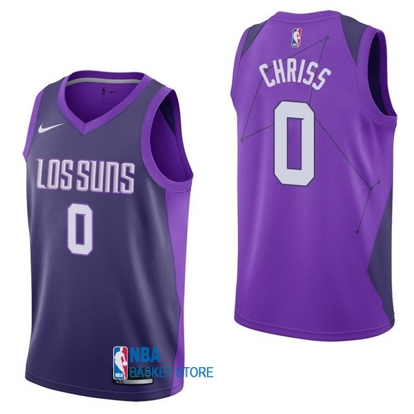 Achat Maillot NBA Nike Phoenix Suns NO.0 Marquese Chriss Nike Pourpre Ville