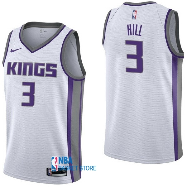 Achat Maillot NBA Nike Sacramento Kings NO.3 George Hill Blanc Association