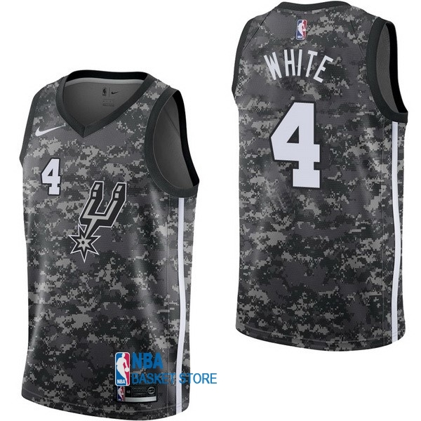 Achat Maillot NBA Nike San Antonio Spurs NO.4 Derrick White Nike Camouflage Ville