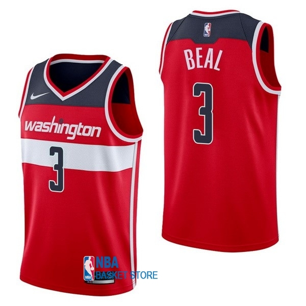 Achat Maillot NBA Nike Washington Wizards NO.3 Bradley Beal Rouge Icon