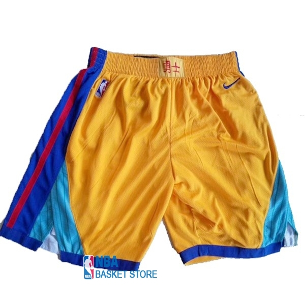 Achat Short Basket Golden State Warriors Nike Jaune