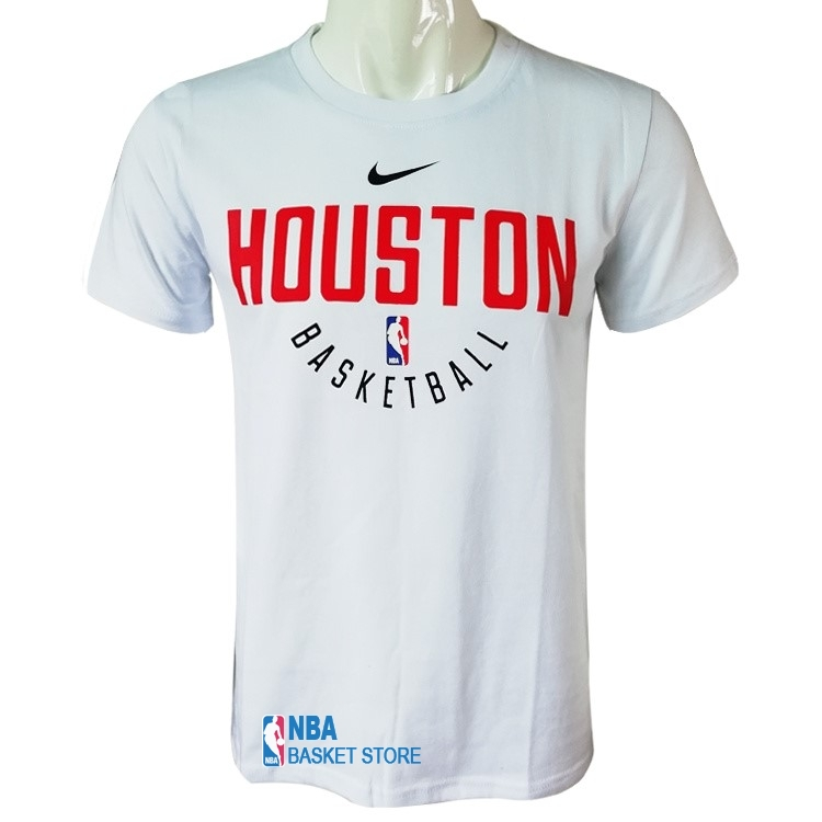Achat T-Shirt Houston Rockets Nike Blanc Rouge