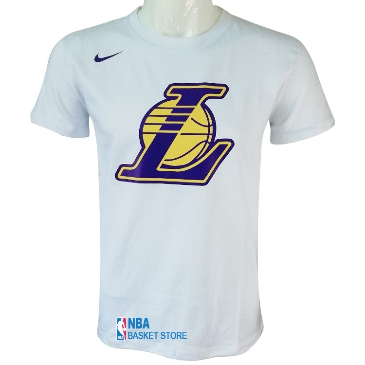 Achat T-Shirt Los Angeles Lakers Nike Blanc