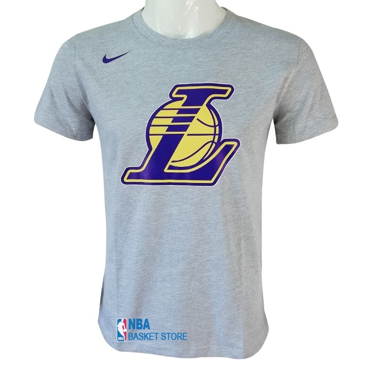 Achat T-Shirt Los Angeles Lakers Nike Gris