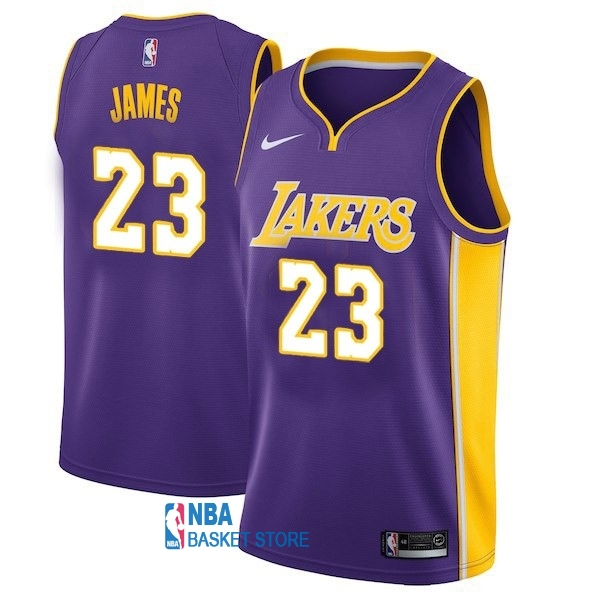 Achat Maillot NBA Enfant Los Angeles Lakers NO.23 LeBron James Purpura Statement