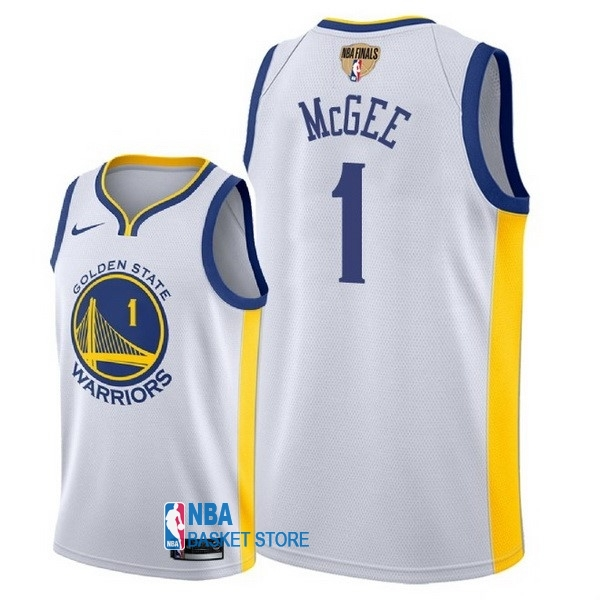 Achat Maillot NBA Golden State Warriors 2018 Final Champions NO.1 JaVale McGee Blanc