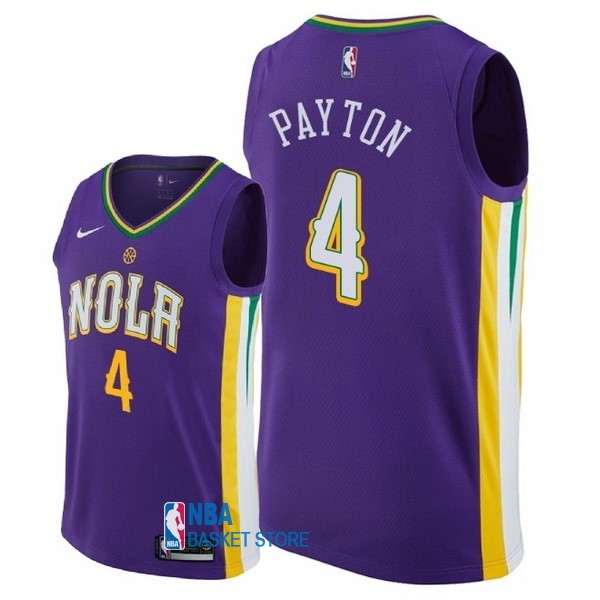 Achat Maillot NBA Nike New Orleans Pelicans NO.4 Elfrid Payton Nike Pourpre Ville 2018