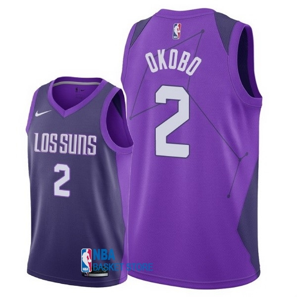 Achat Maillot NBA Nike Phoenix Suns NO.2 Elie Okobo Nike Pourpre Ville 2018