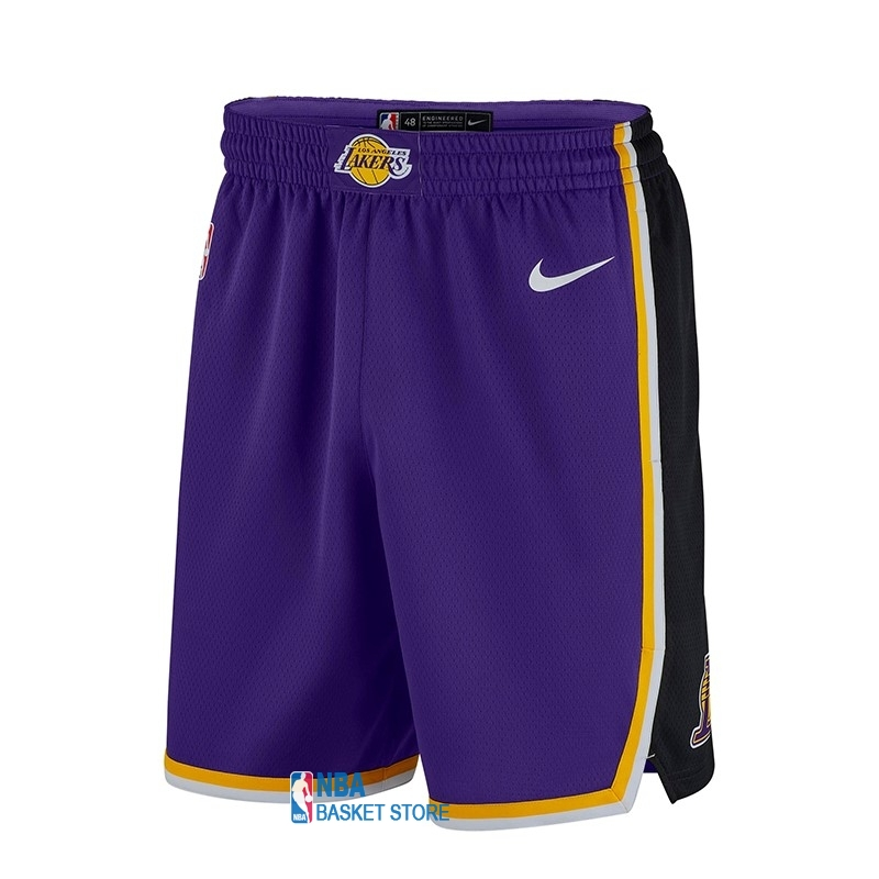 Achat Short Basket Los Angeles Lakers Nike Pourpre 2018-19