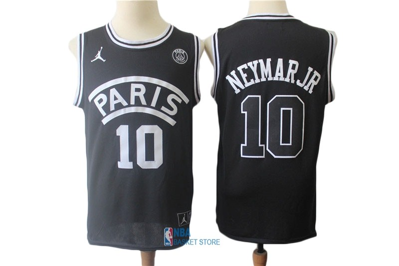 Achat Maillot Collaboration Maillot Basket-ball Jordan x Paris Saint-Germain NO.10 Neymar Jr Noir