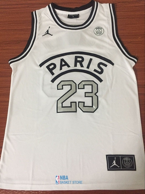 Achat Maillot Collaboration Maillot Basket-ball Jordan x Paris Saint-Germain NO.23 Jordan Blanc